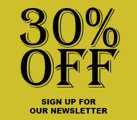 Black and gold 30% off sale for sign up for newsletter