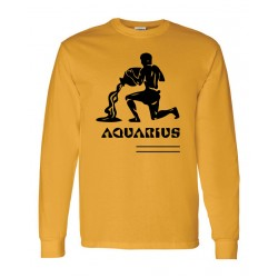 Men Aquarius Zodiac Shirt