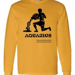 Men Aquarius Zodiac Shirt