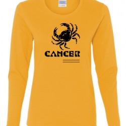 Ladies Cancer Zodiac Shirt